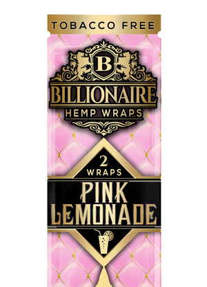 BILLIONAIRE WRAPS PINK LEMONADE - 2 WRAPS PER POUCH 25 POUCHES