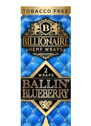 BILLIONAIRE WRAPS BALLIN' BLUEBERRY - 2 WRAPS PER POUCH 25 POUCHES