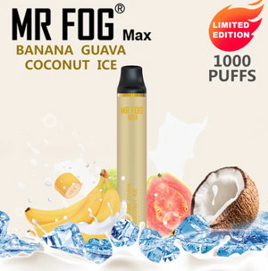 MR FOG MAX DISPOSABLE VAPE PEN BANANA GUAVA COCONUT ICE