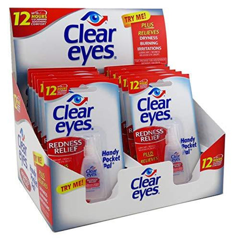 CLEAR EYES REDNESS RELIEF EYE DROPS 12 PACK - Green Caviar Club