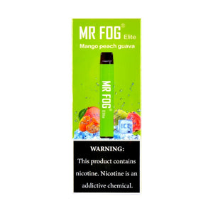 MR FOG ELITE DISPOSABLE VAPE PEN MANGO PEACH GUAVA - Green Caviar Club