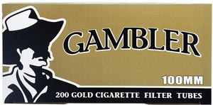 GAMBLER CIGARETTE FILTER TUBES 5 CARTONS OF 200 GOLD (LIGHT) 100MM - Green Caviar Club