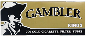 GAMBLER CIGARETTE FILTER TUBES 5 CARTONS OF 200 GOLD (LIGHT) KING SIZE - Green Caviar Club