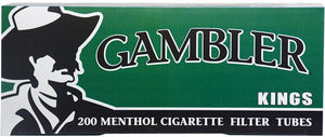 GAMBLER CIGARETTE FILTER TUBES 5 CARTONS OF 200 MENTHOL KING SIZE - Green Caviar Club