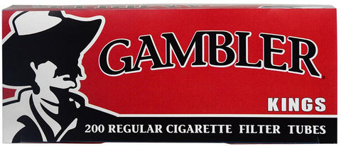GAMBLER CIGARETTE FILTER TUBES 5 CARTONS OF 200 RED (FULL FLAVOR) KING SIZE - Green Caviar Club