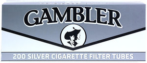GAMBLER CIGARETTE FILTER TUBES 5 CARTONS OF 200 SILVER (ULTRA LIGHT) KING SIZE - Green Caviar Club