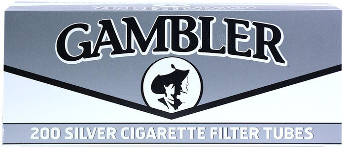 GAMBLER CIGARETTE FILTER TUBES 5 CARTONS OF 200 SILVER (ULTRA LIGHT) KING SIZE