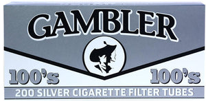 GAMBLER CIGARETTE FILTER TUBES 5 CARTONS OF 200 SILVER (ULTRA LIGHT) 100MM - Green Caviar Club