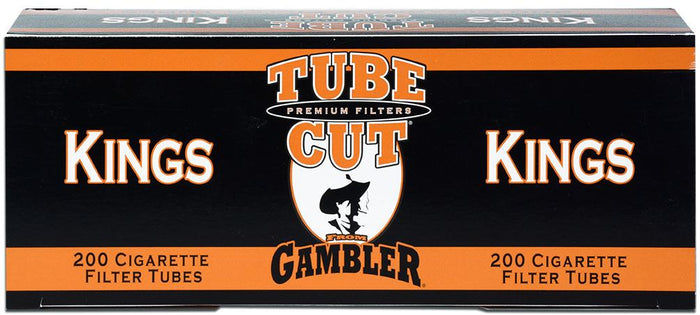 GAMBLER TUBE CUT CIGARETTE FILTER TUBES 5 CARTONS OF 200 RED (FULL FLAVOR) KING SIZE