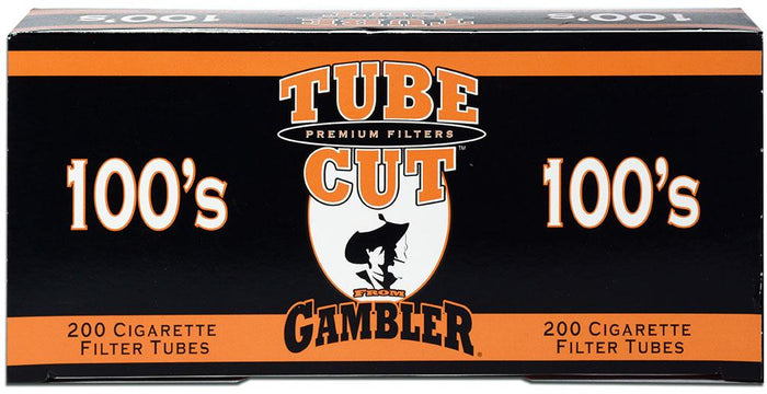 GAMBLER TUBE CUT CIGARETTE FILTER TUBES 5 CARTONS OF 200 RED (FULL FLAVOR) 100MM