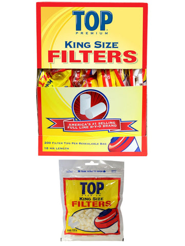 TOP PREMIUM FILTER TIPS KING SIZE (18MM) - Green Caviar Club