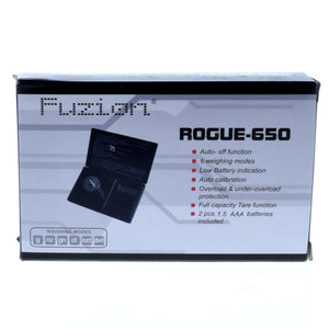 FUZION DIGITAL POCKET SCALE ROGUE-650G X 0.1G
