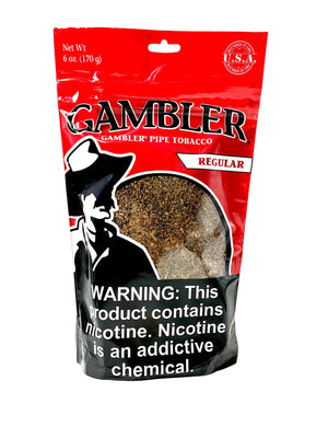 Gambler Pipe Tobacco Regular 6oz