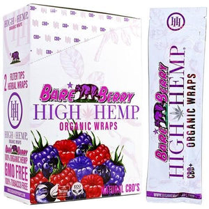 ORGANIC WRAPS 2 WRAPS PER POUCH 25 POUCHES BARE BERRY - Green Caviar Club