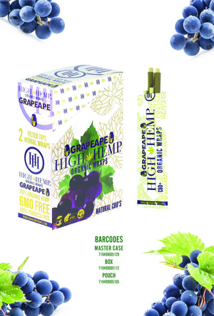 ORGANIC WRAPS 2 WRAPS PER POUCH 25 POUCHES GRAPE APE