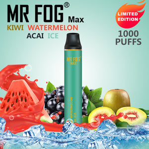 MR FOG MAX DISPOSABLE VAPE PEN KIWI WATERMELON ACAI ICE