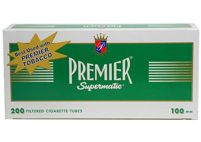 PREMIER CIGARETTE FILTER TUBES 5 CARTONS OF 200 MENTHOL 100MM