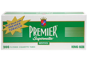 PREMIER CIGARETTE FILTER TUBES 5 CARTONS OF 200 MENTHOL KING SIZE - Green Caviar Club