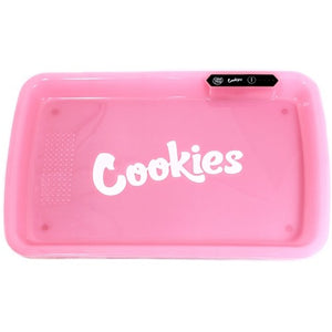 COOKIES MULTI COLOR LED GLOW ROLLING TRAY - PINK