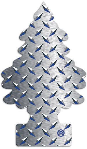 LITTLE TREES CAR AIR FRESHENER 24PK PURE STEEL - Green Caviar Club