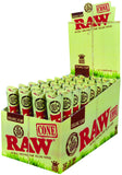 RAW ORGANIC PRE ROLLED KING SIZE CONES - Green Caviar Club