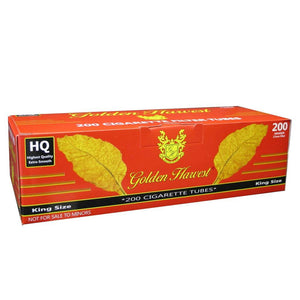 GOLDEN HARVEST CIGARETTE FILTER TUBES 5 CARTONS OF 200 RED (FULL FLAVOR) KING SIZE