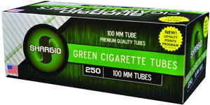 SHARGIO CIGARETTE FILTER TUBES 1000 TUBES MENTHOL 100MM - Green Caviar Club