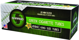 SHARGIO CIGARETTE FILTER TUBES 1000 TUBES MENTHOL KING SIZE - Green Caviar Club