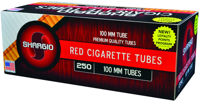 SHARGIO CIGARETTE FILTER TUBES 1000 TUBES RED (FULL FLAVOR) 100MM