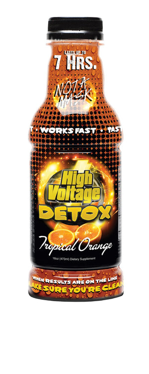 HIGH VOLTAGE DETOX 16OZ TROPICAL ORANGE