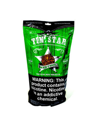 Tin Star Pipe Tobacco Menthol 8oz