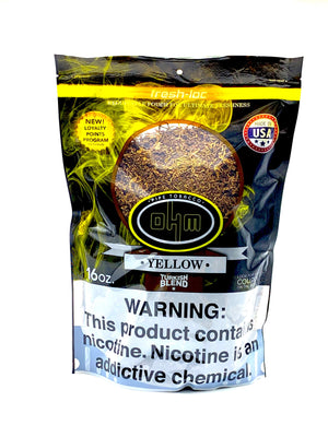 Ohm Pipe Tobacco Yellow Turkish Blend 16oz - Green Caviar Club