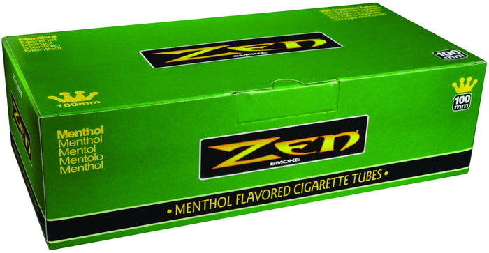 ZEN CIGARETTE FILTER TUBES 1 CARTON OF 200 TUBES MENTHOL 100MM