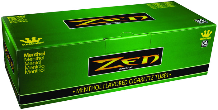 ZEN CIGARETTE FILTER TUBES 1 CARTON OF 200 TUBES MENTHOL KING SIZE
