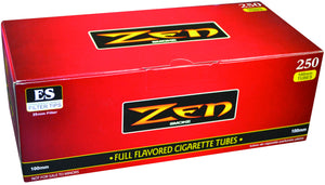 ZEN CIGARETTE FILTER TUBES 1 CARTON OF 250 TUBES RED (FULL FLAVOR) 100MM