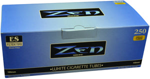 ZEN CIGARETTE FILTER TUBES 1 CARTON OF 250 TUBES BLUE (LIGHT) 100MM
