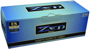 ZEN CIGARETTE FILTER TUBES 1 CARTON OF 250 TUBES BLUE (LIGHT) KING SIZE