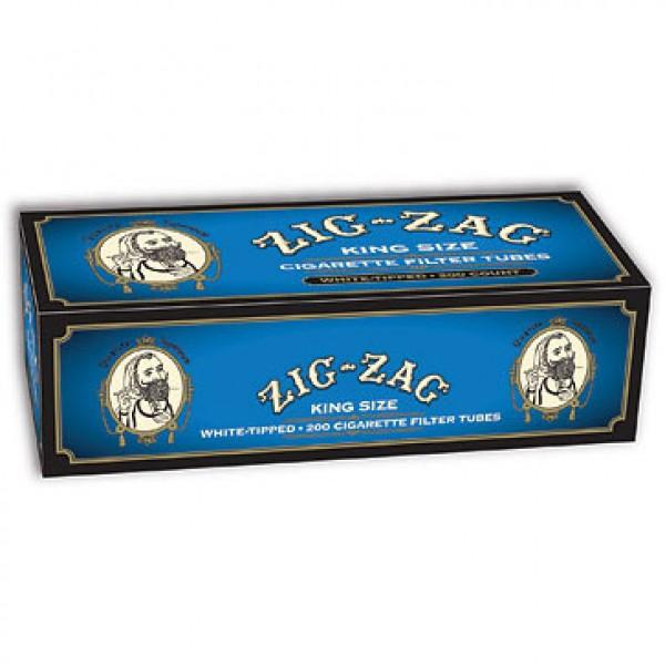 ZIG ZAG CIGARETTE FILTER TUBES 5 CARTONS OF 200 BLUE (LIGHT) KING SIZE