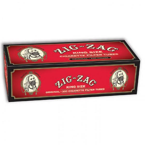 ZIG ZAG CIGARETTE FILTER TUBES 5 CARTONS OF 200 RED (FULL FLAVOR) KING SIZE