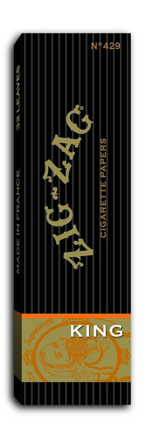ZIG ZAG ROLLING PAPERS KING SIZE 24 BOOKS OF 32 LEAVES - Green Caviar Club