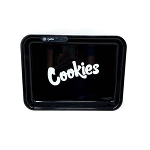 COOKIES MULTI COLOR LED GLOW ROLLING TRAY - BLACK
