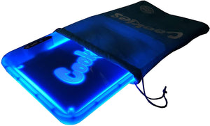 COOKIES MULTI COLOR LED GLOW ROLLING TRAY - BLUE