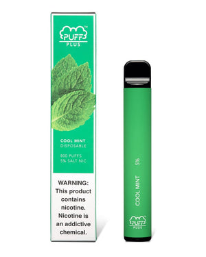 PUFF PLUS DISPOSABLE DEVICE COOL MINT - Green Caviar Club