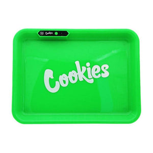 COOKIES MULTI COLOR LED GLOW ROLLING TRAY - GREEN