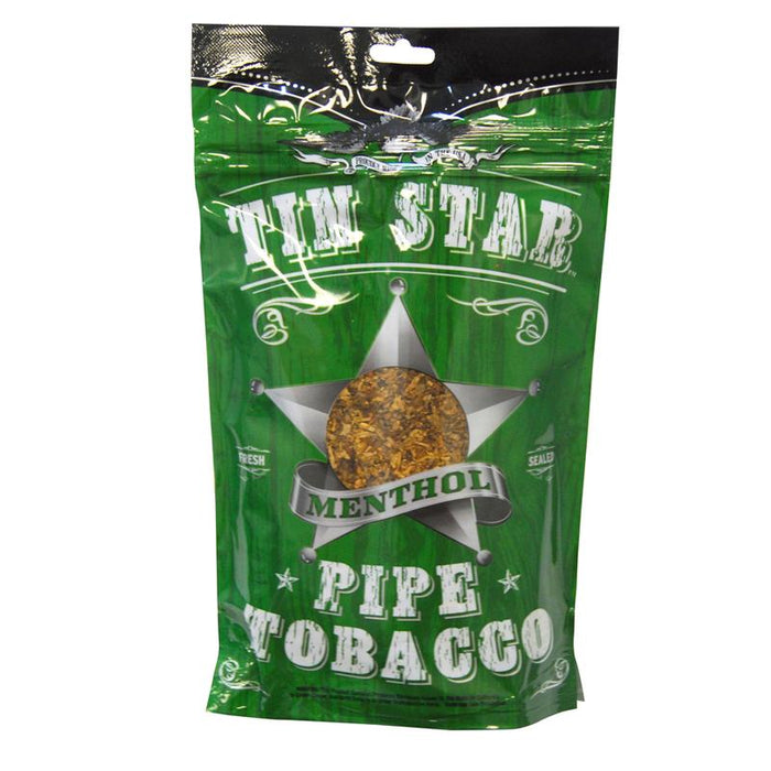 Tin Star Pipe Tobacco Menthol 3oz
