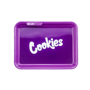 COOKIES MULTI COLOR LED GLOW ROLLING TRAY - PURPLE