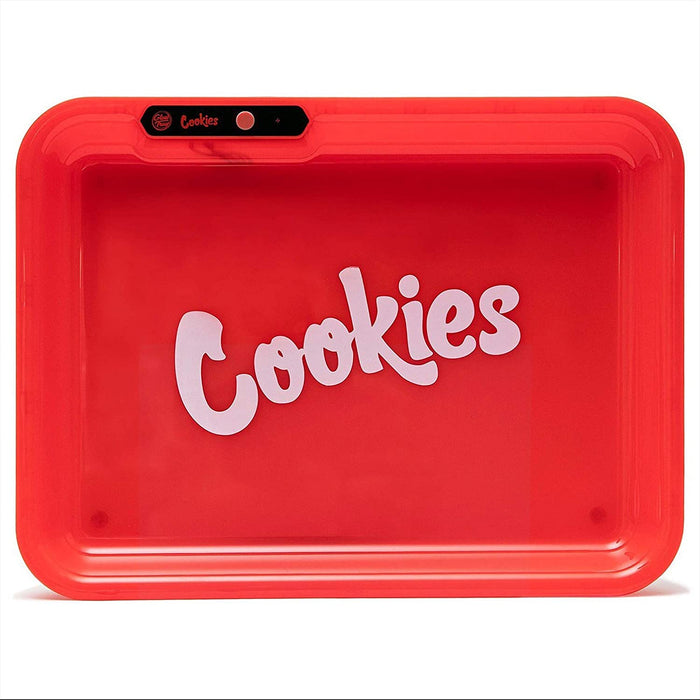 COOKIES MULTI COLOR LED GLOW ROLLING TRAY - RED