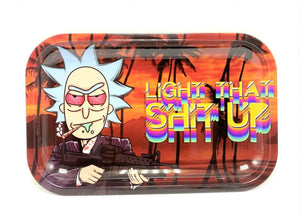 "SMOKE ARSENAL METAL ROLLING TRAY RICK ""LIGHT THAT SH*T UP"""