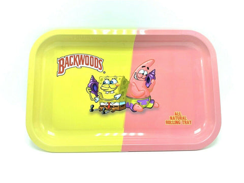 Spongebob & Patrick x Backwoods Metal Rolling Tray - Green Caviar Club
