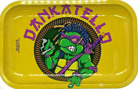 Smoke Arsenal Ninja Turtles x Dankatello Rolling Tray - Green Caviar Club